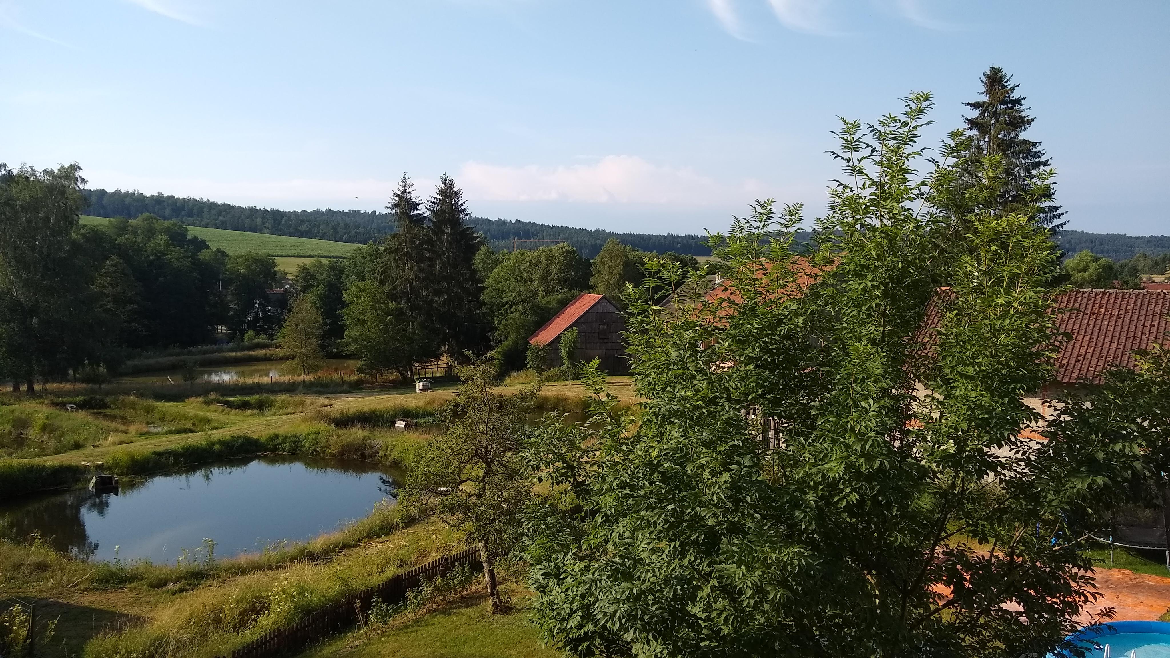 Blick vom Balkon der Rhönperle.