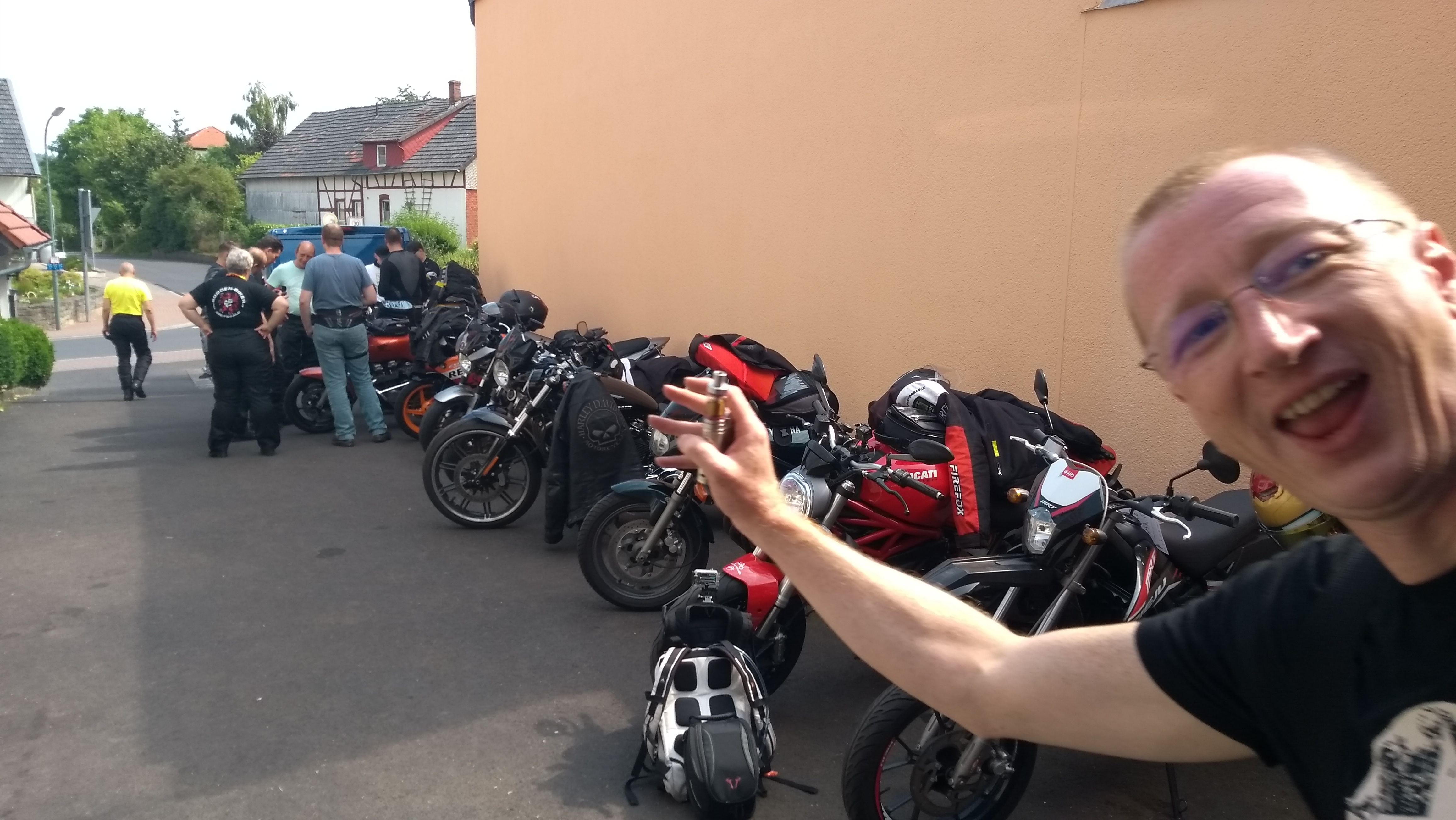 Parkende Mopeds