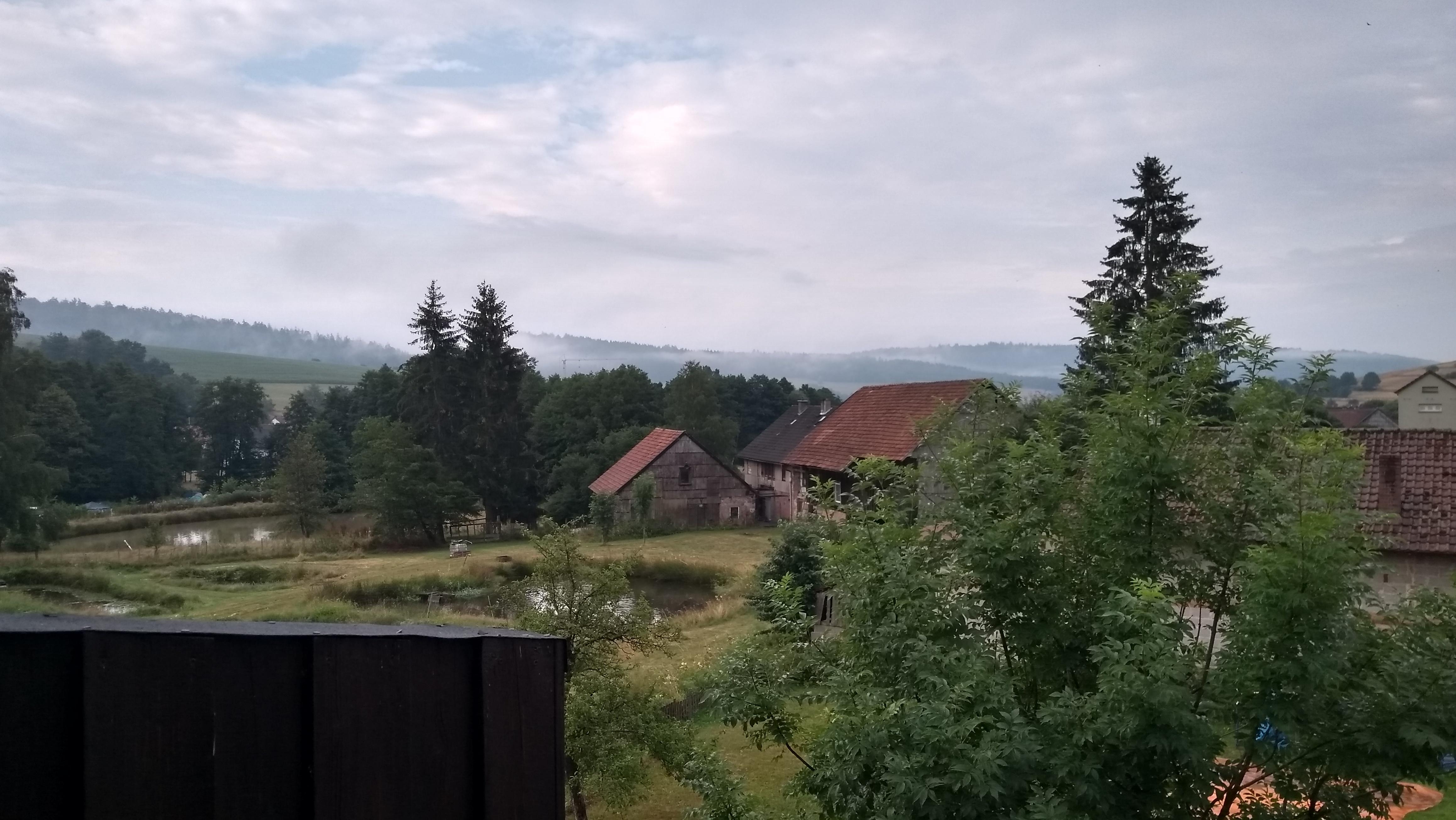 Aussicht vom Balkon Abfahrtstag